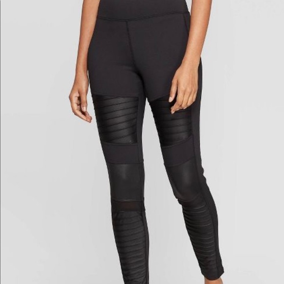 A New Day XL Women's Black Moto Leggings